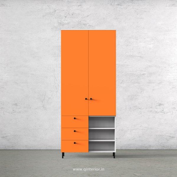 Lambent 2 Door Wardrobe in White and Saffron Finish – DWRD036 C90