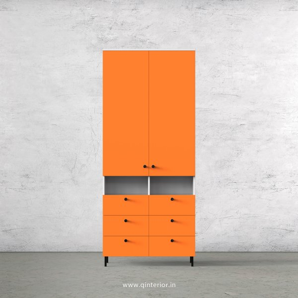Lambent 2 Door Wardrobe in White and Saffron Finish – DWRD048 C90