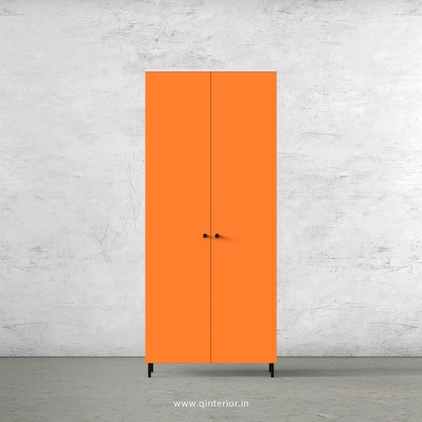 Lambent 2 Door Wardrobe in White and Saffron Finish – DWRD001 C90
