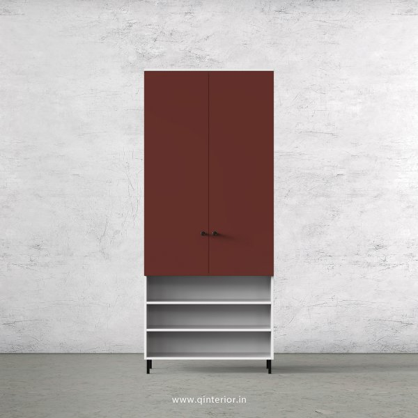 Lambent 2 Door Wardrobe in White and Shangrilla Finish – DWRD031 C14