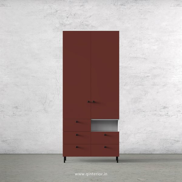 Lambent 2 Door Wardrobe in White and Shangrilla Finish – DWRD034 C14