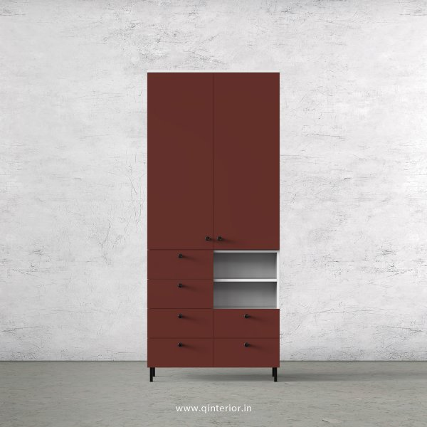 Lambent 2 Door Wardrobe in White and Shangrilla Finish – DWRD064 C14