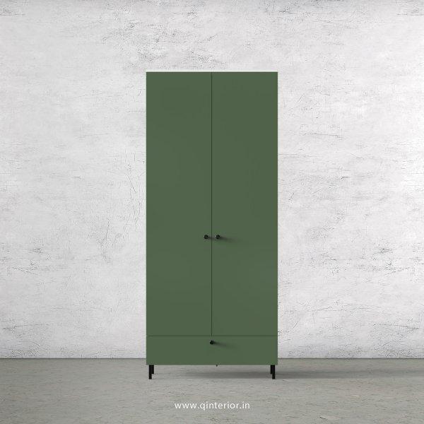 Lambent 2 Door Wardrobe in White and English Ivy Finish – DWRD021 C82