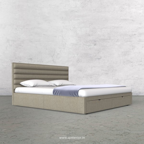 Crux King Size Storage Bed in Cotton Plain - KBD001 CP01