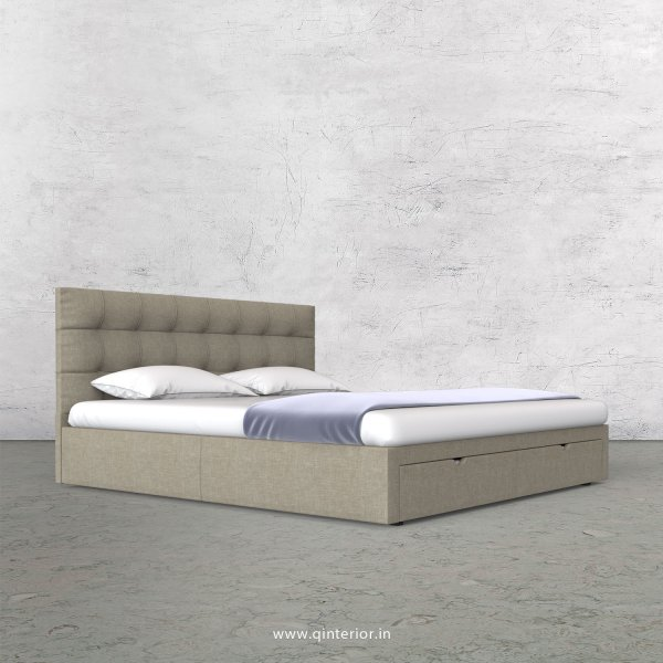 Lyra Queen Storage Bed in Cotton Plain - QBD001 CP01
