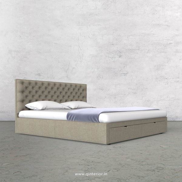 Orion King Size Storage Bed in Cotton Plain - KBD001 CP01
