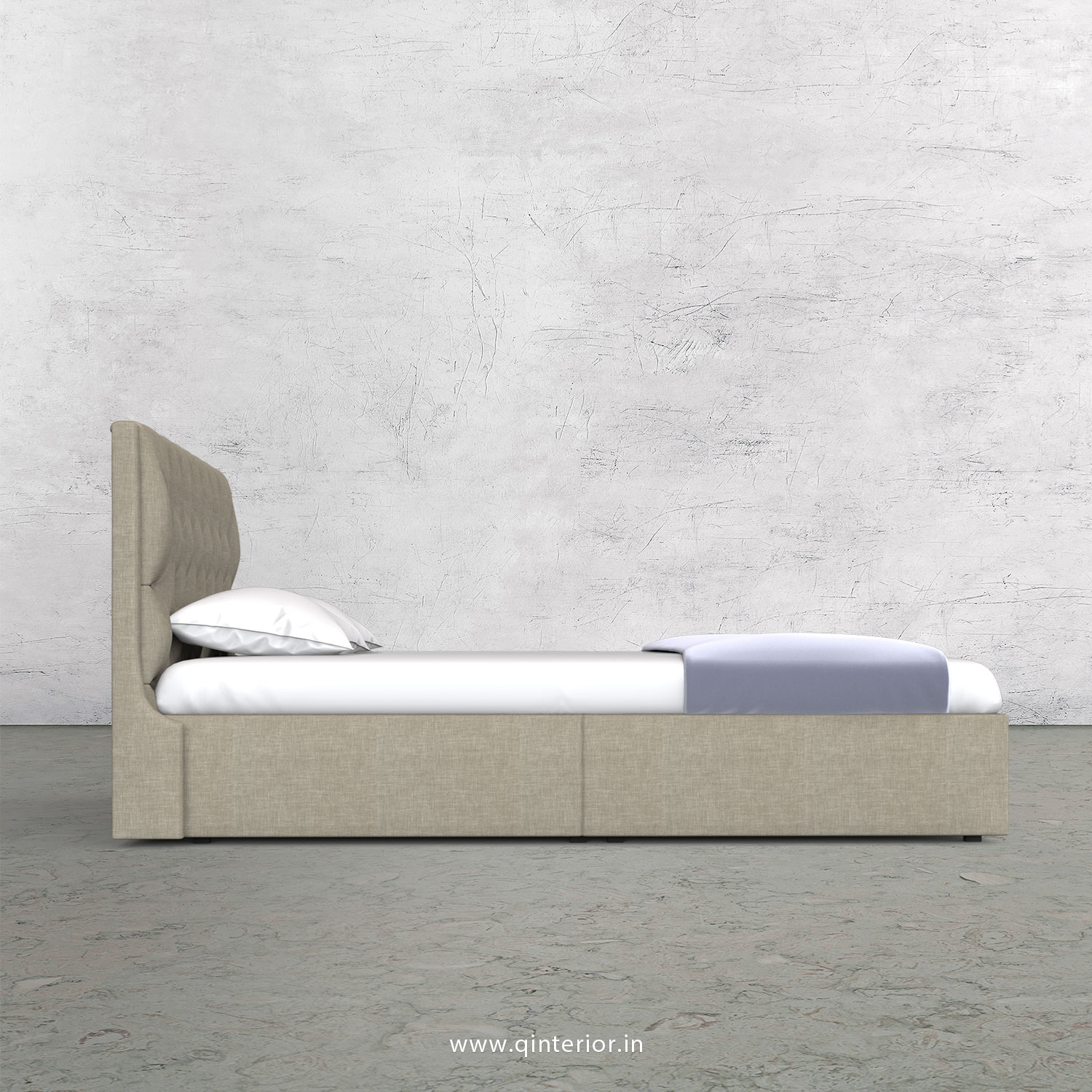 Scorpius King Size Storage Bed in Cotton Plain - KBD001 CP01