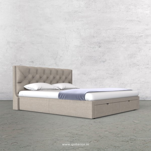 Scorpius King Size Storage Bed in Cotton Plain - KBD001 CP02