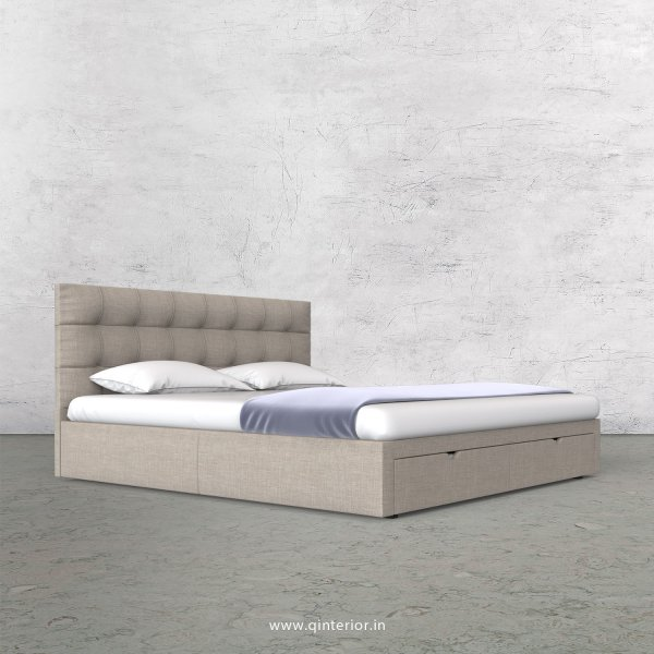 Lyra King Size Storage Bed in Cotton Plain - KBD001 CP02