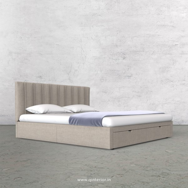 Leo Queen Storage Bed in Cotton Plain - QBD001 CP02
