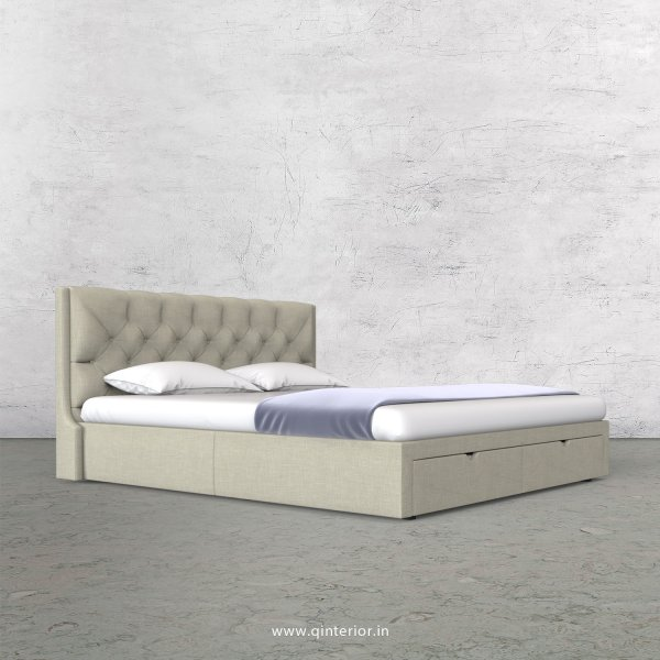 Scorpius Queen Storage Bed in Cotton Plain - QBD001 CP03