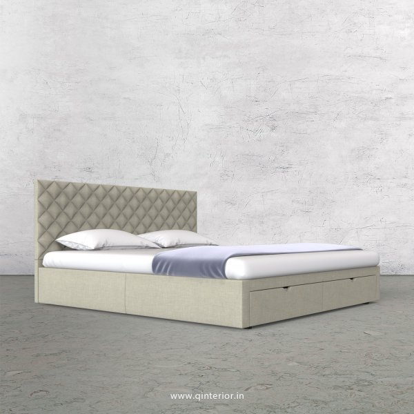 Aquila King Size Storage Bed in Cotton Plain - KBD001 CP03