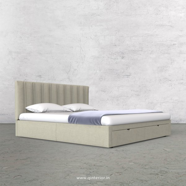 Leo King Size Storage Bed in Cotton Plain - KBD001 CP03