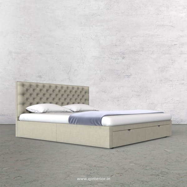 Orion Queen Storage Bed in Cotton Plain - QBD001 CP03