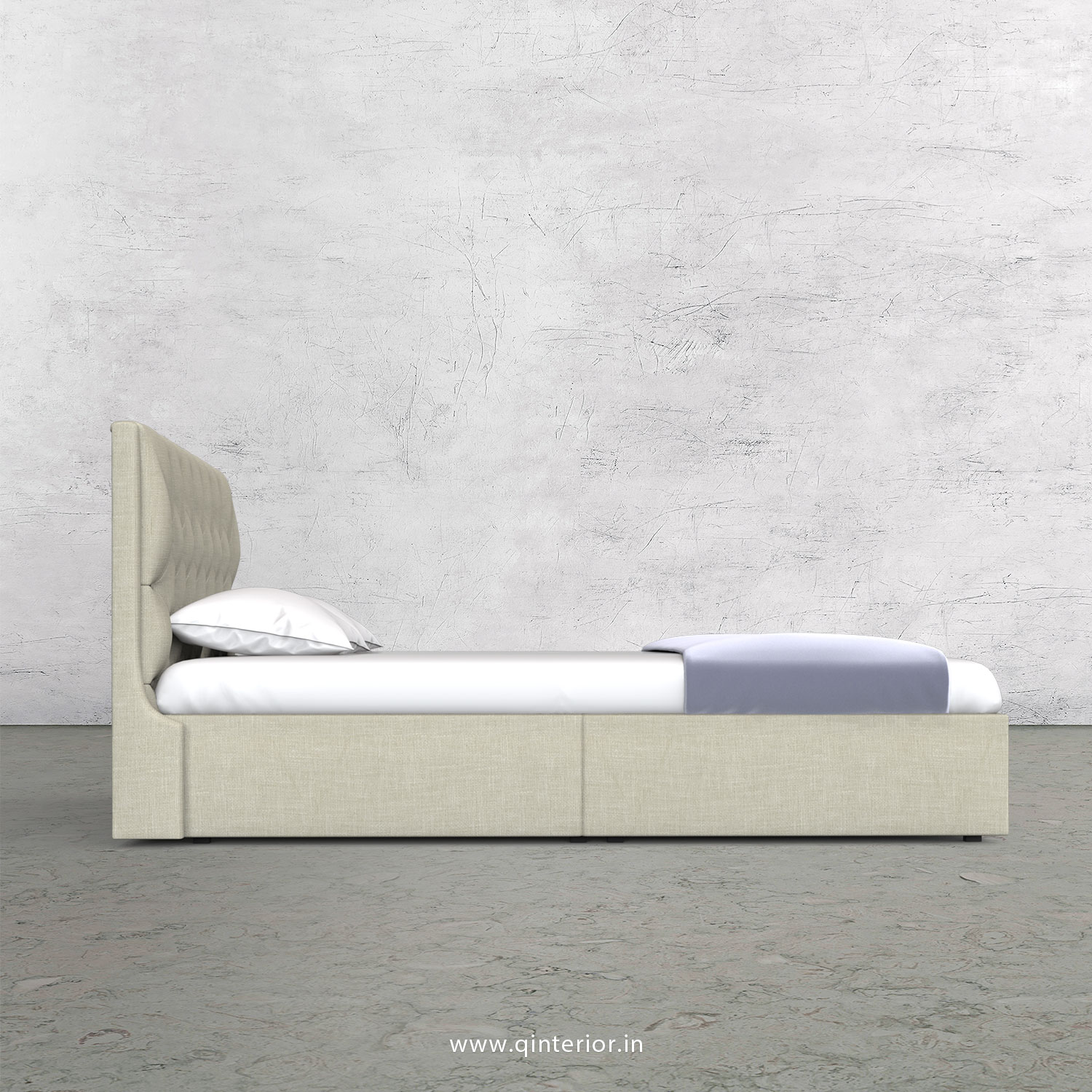 Scorpius King Size Storage Bed in Cotton Plain - KBD001 CP03