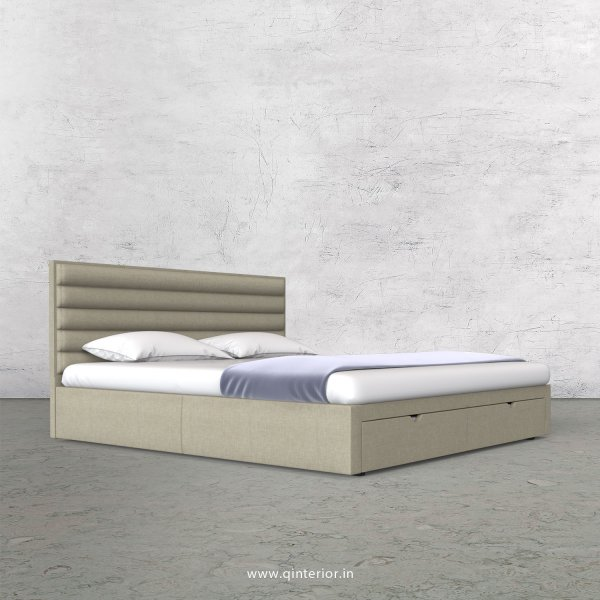 Crux King Size Storage Bed in Cotton Plain - KBD001 CP05