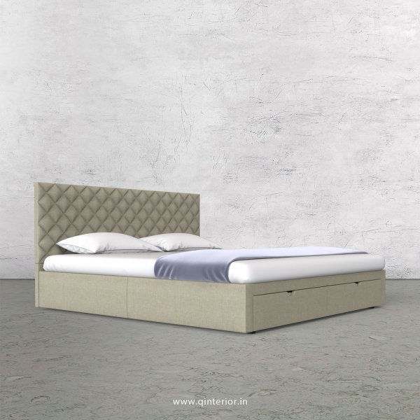 Aquila Queen Storage Bed in Cotton Plain - QBD001 CP05