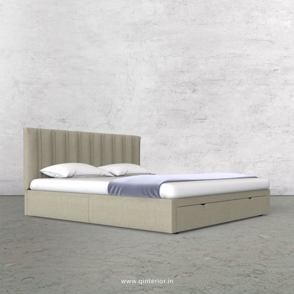 Leo King Size Storage Bed in Cotton Plain - KBD001 CP05