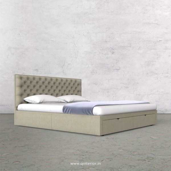 Orion Queen Storage Bed in Cotton Plain - QBD001 CP05