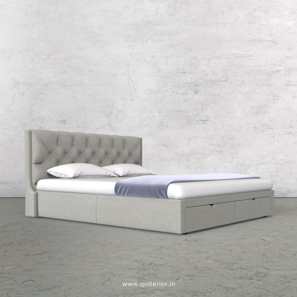 Scorpius King Size Storage Bed in Cotton Plain - KBD001 CP06