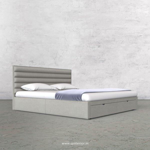 Crux King Size Storage Bed in Cotton Plain - KBD001 CP06