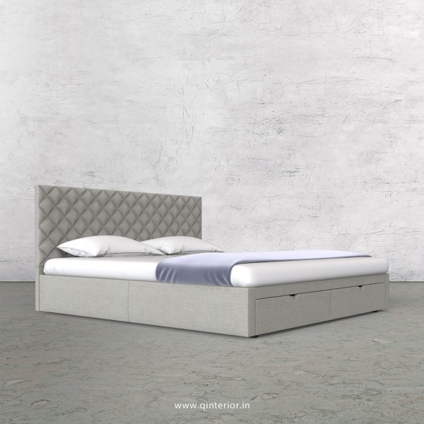 Aquila Queen Storage Bed in Cotton Plain - QBD001 CP06