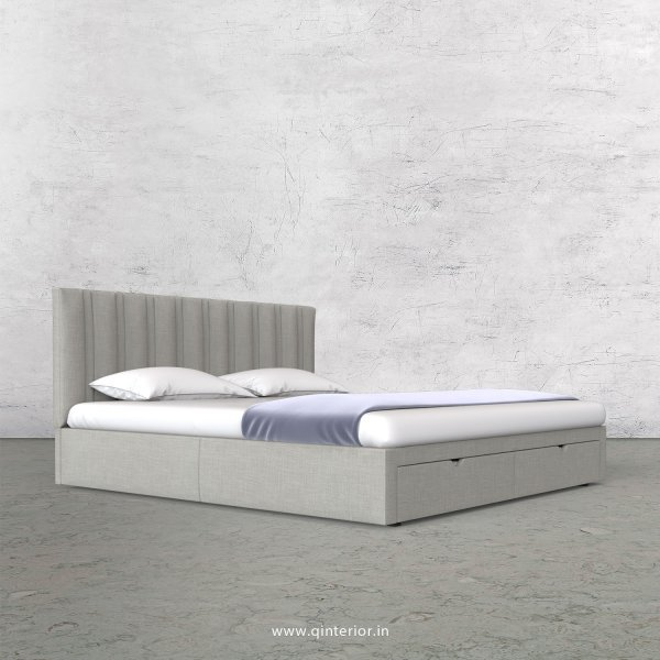 Leo King Size Storage Bed in Cotton Plain - KBD001 CP06