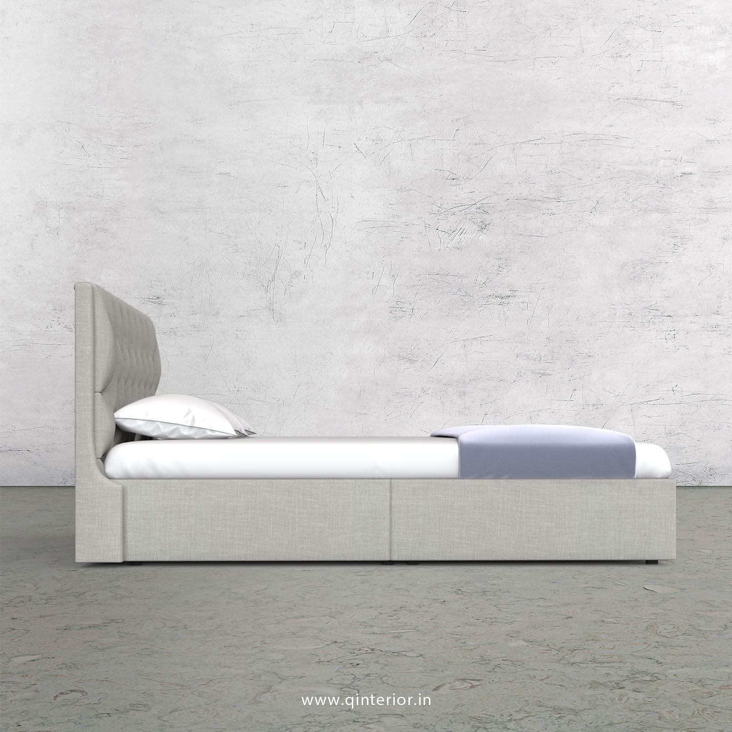 Scorpius Queen Storage Bed in Cotton Plain - QBD001 CP06