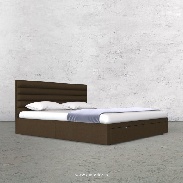 Crux King Size Storage Bed in Cotton Plain - KBD001 CP10