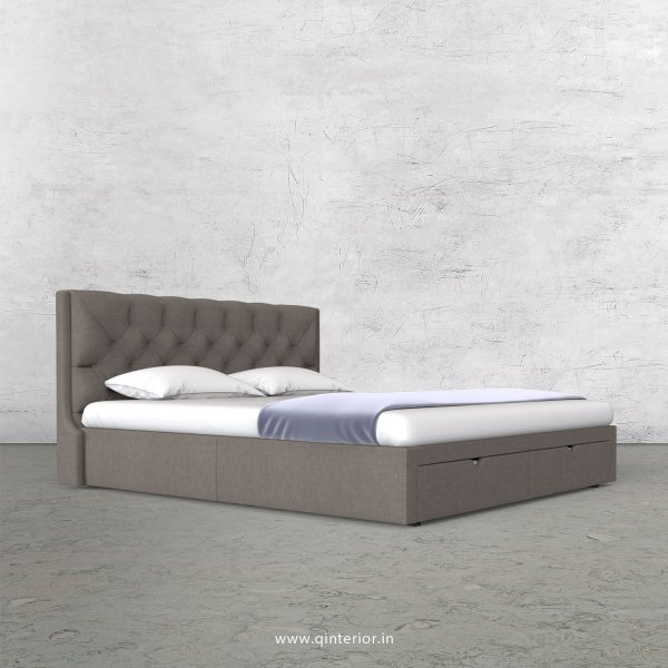 Scorpius King Size Storage Bed in Cotton Plain - KBD001 CP11