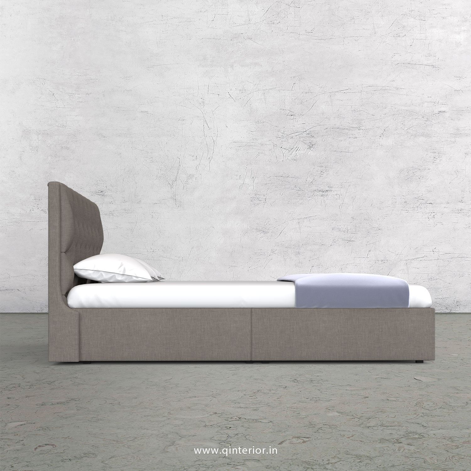 Scorpius Queen Storage Bed in Cotton Plain - QBD001 CP11