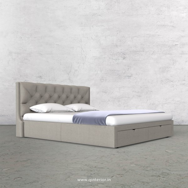 Scorpius Queen Storage Bed in Cotton Plain - QBD001 CP12