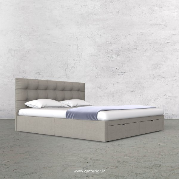 Lyra King Size Storage Bed in Cotton Plain - KBD001 CP12