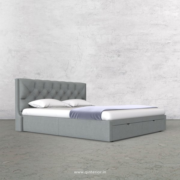 Scorpius King Size Storage Bed in Cotton Plain - KBD001 CP13