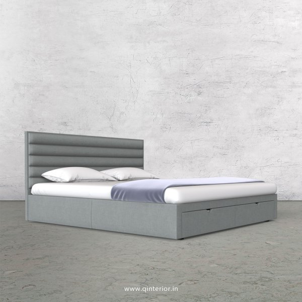 Crux King Size Storage Bed in Cotton Plain - KBD001 CP13