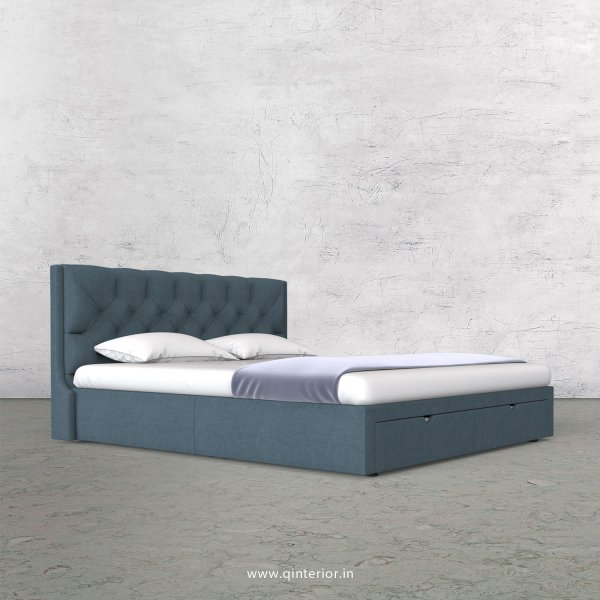 Scorpius King Size Storage Bed in Cotton Plain - KBD001 CP14