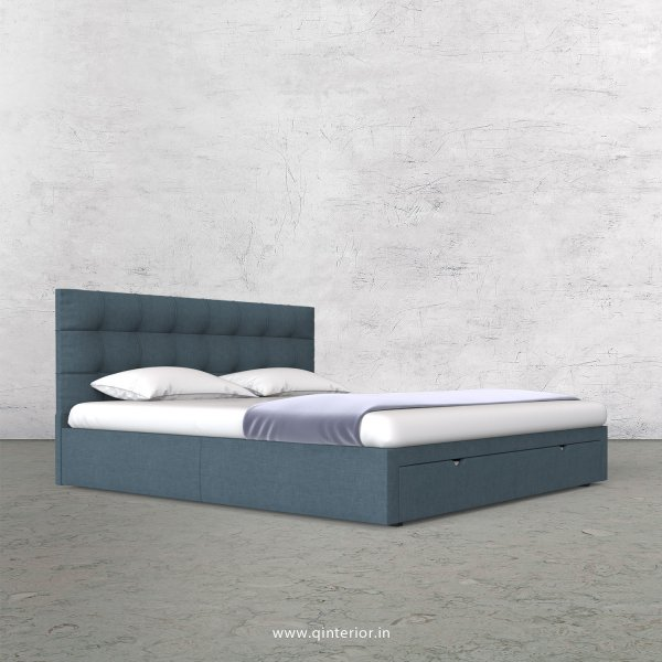 Lyra Queen Storage Bed in Cotton Plain - QBD001 CP14