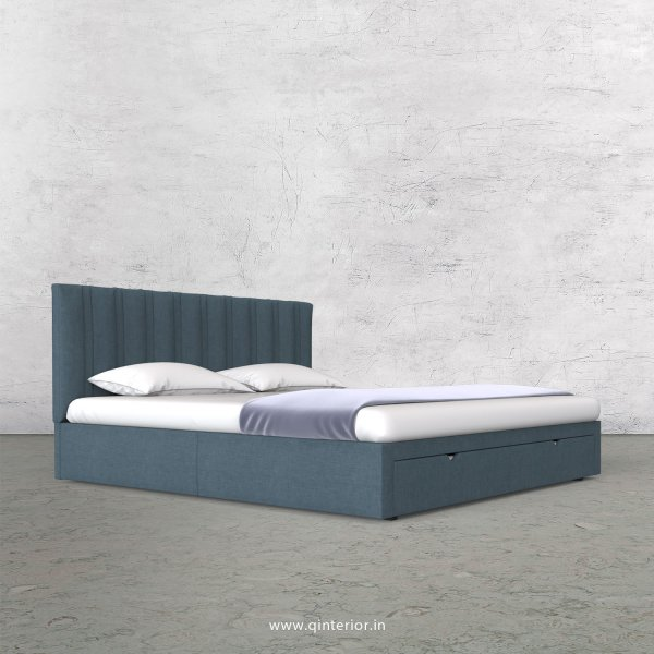 Leo Queen Storage Bed in Cotton Plain - QBD001 CP14