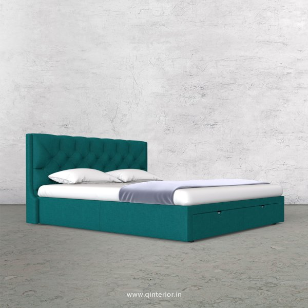 Scorpius King Size Storage Bed in Cotton Plain - KBD001 CP16