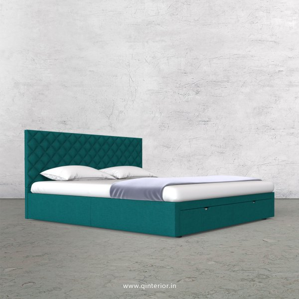 Aquila King Size Storage Bed in Cotton Plain - KBD001 CP16