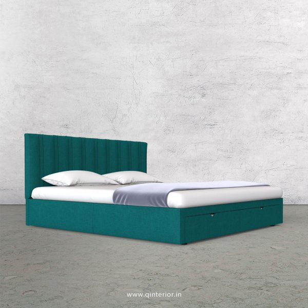 Leo Queen Storage Bed in Cotton Plain - QBD001 CP16