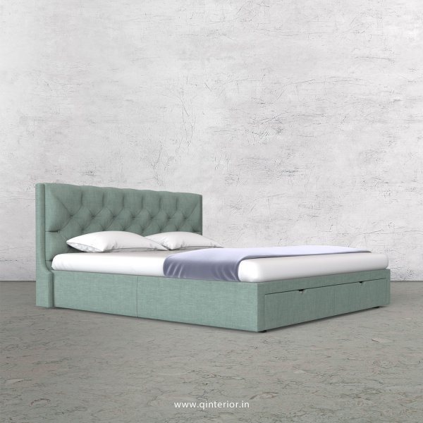 Scorpius King Size Storage Bed in Cotton Plain - KBD001 CP17