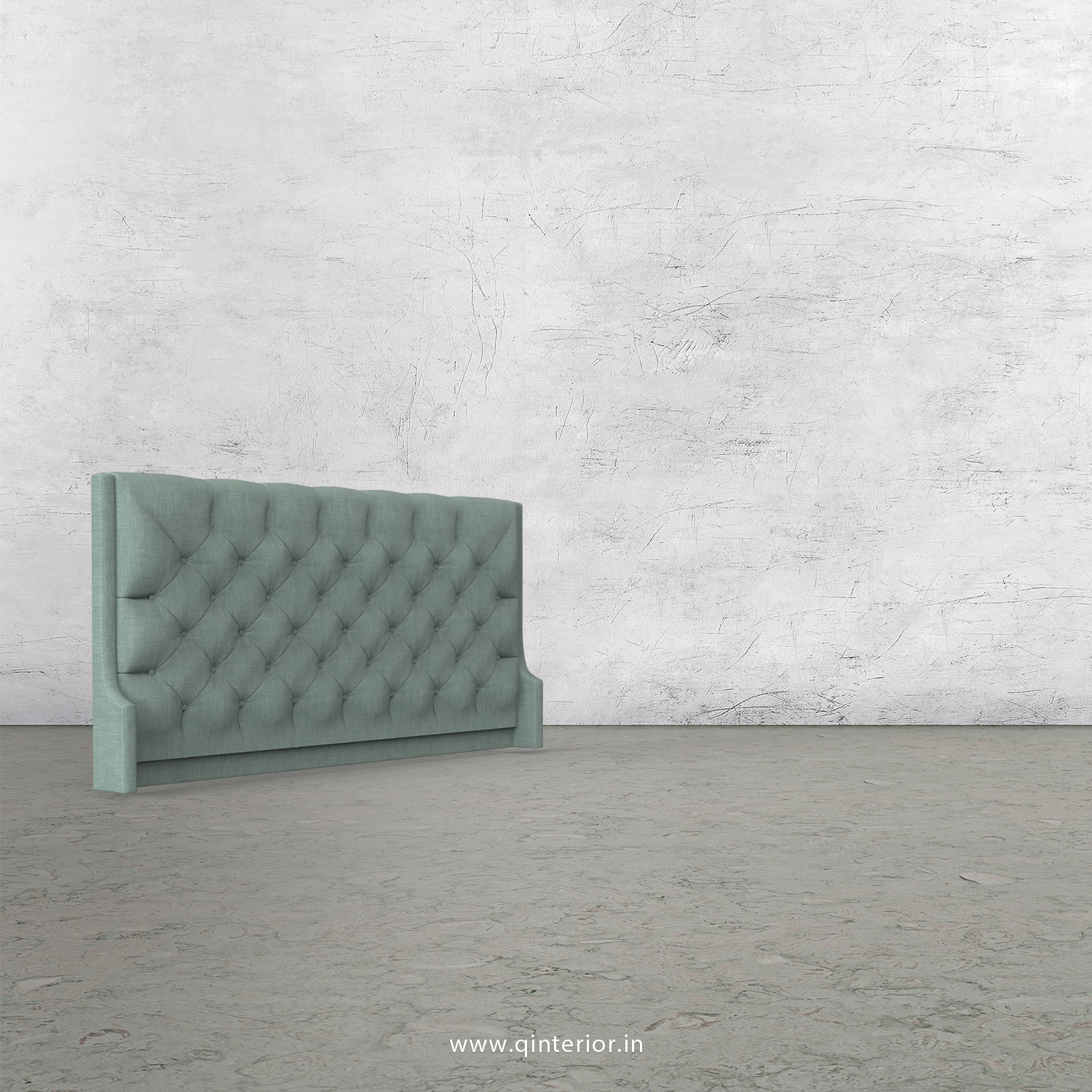 Scorpius Bed Headboard in Cotton Plain - BHB002 CP17