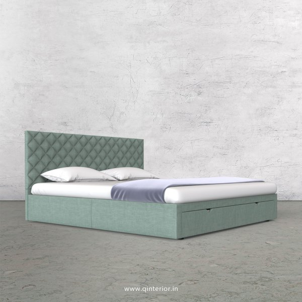 Aquila King Size Storage Bed in Cotton Plain - KBD001 CP17