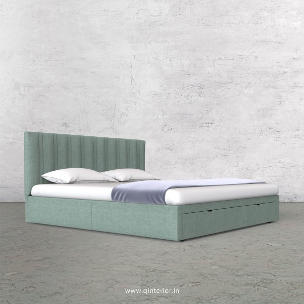 Leo King Size Storage Bed in Cotton Plain - KBD001 CP17