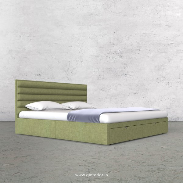 Crux Queen Storage Bed in Cotton Plain - QBD001 CP18
