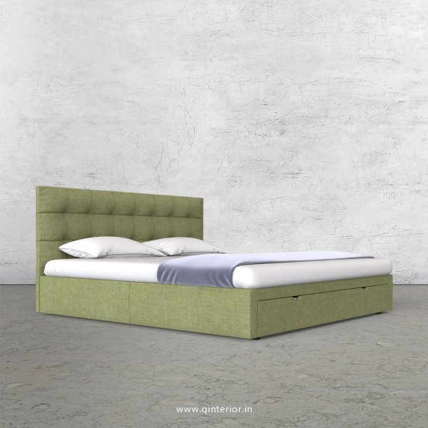 Lyra Queen Storage Bed in Cotton Plain - QBD001 CP18