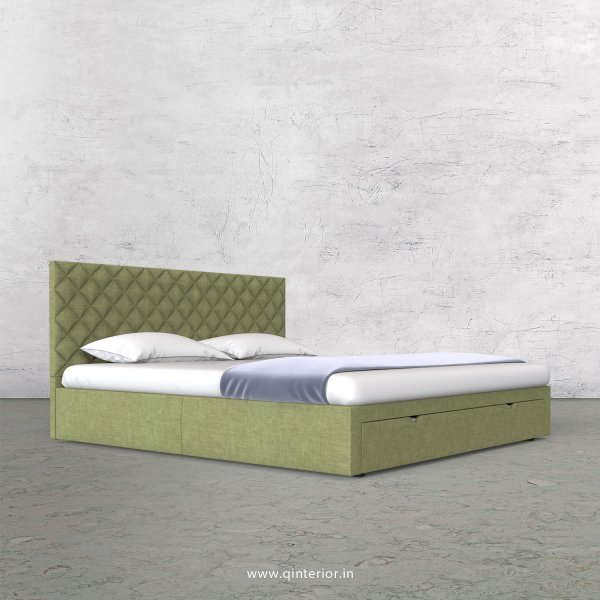 Aquila Queen Storage Bed in Cotton Plain - QBD001 CP18