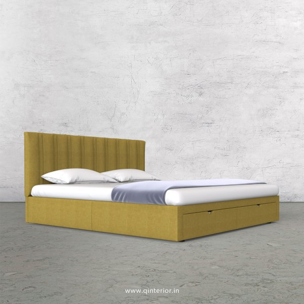 Leo King Size Storage Bed in Cotton Plain - KBD001 CP19
