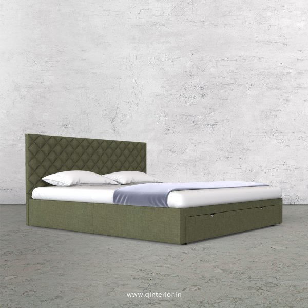 Aquila King Size Storage Bed in Cotton Plain - KBD001 CP20